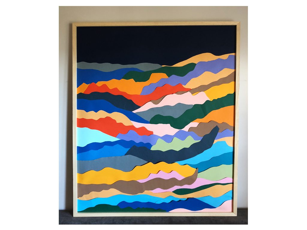 Lules Fiorenza - Me quede con el paisaje - 39 x 39 inches - Mixed media