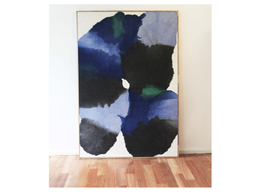 Micaela Suide - Untitled - 79 x 47 inches - Paint with water-based inks over linen