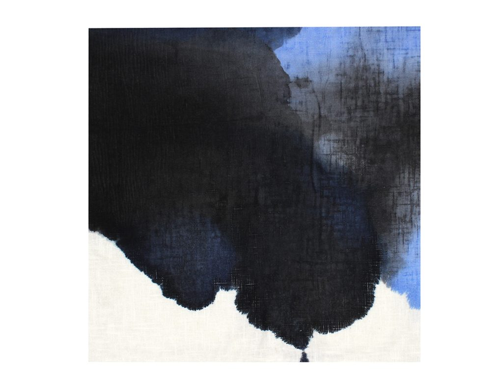 Micaela Suide - Untitled - 39 x 39 inches - Paint with water-based inks over linen