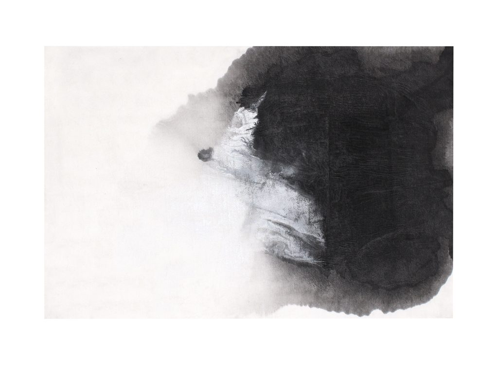 Micaela Suide - Untitled - 39 x 27 inches - Paint with water-based inks over linen