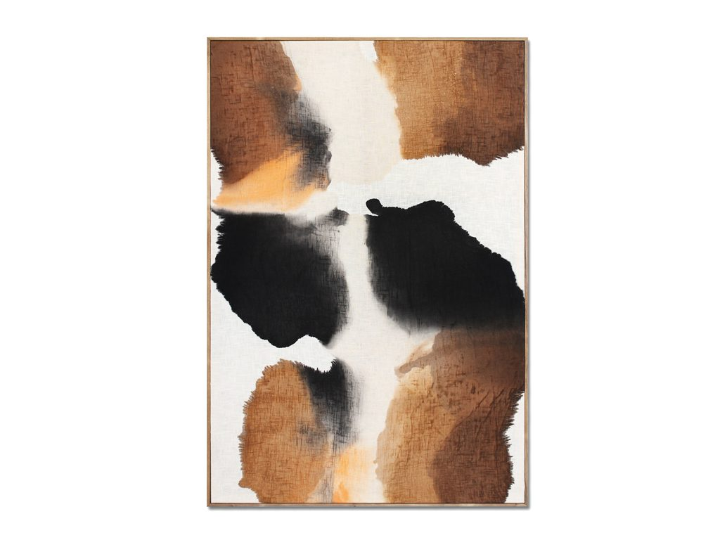 Micaela Suide - Untitled - 59 x 39 inches - Paint with water-based inks over linen