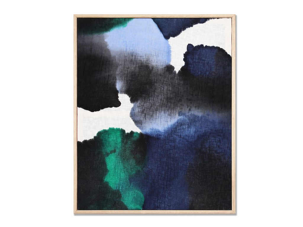 Micaela Suide - Untitled - 35 x 31 inches - Paint with water-based inks over linen