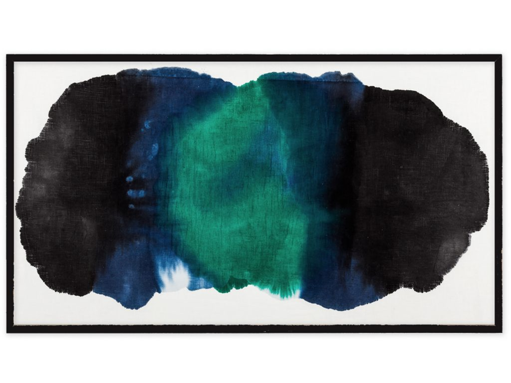Micaela Suide - Untitled - 31 x 55 inches - Paint with water-based inks over linen