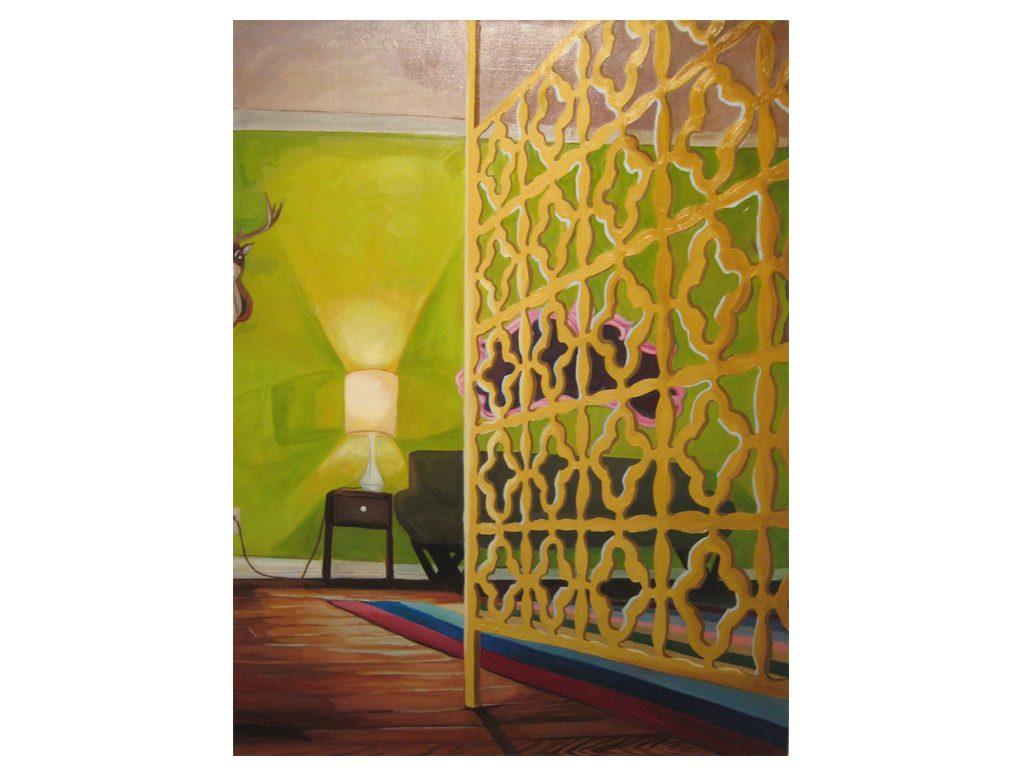 Harumi Abe - dear - 48 x 36 inches - oil on canvas