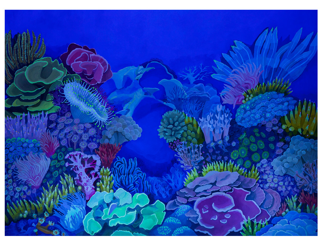 Iris, making a rainbow from the sky to a coral nr. 4 - 78 x 56 inches (2)