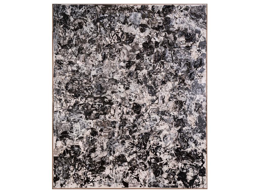 """Pablo Frezza - """"Desierto"""" 70 x 59 inches - Collage transfers on canvas"""