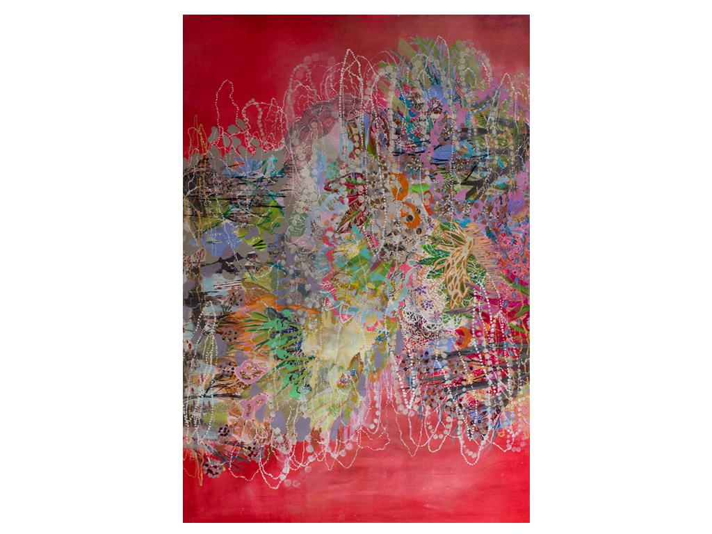 """Lía Porto - """"Espejismo"""" -  Acrylic on canvas - 82 x 56 inches"""